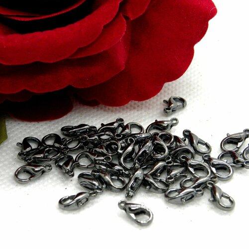 Fermoir mousqueton noir, mousqueton menotte métal, fermoir menotte métal, fermoir mousqueton métal, fermoir mousqueton, mousqueton métal,