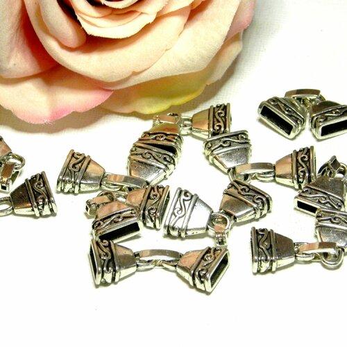 Fermoir manchon métal, fermoir cliquet manchon, fermoir plat ruban, lot fermoir, cliquet métal, embout ruban, fermoir embout, embout,