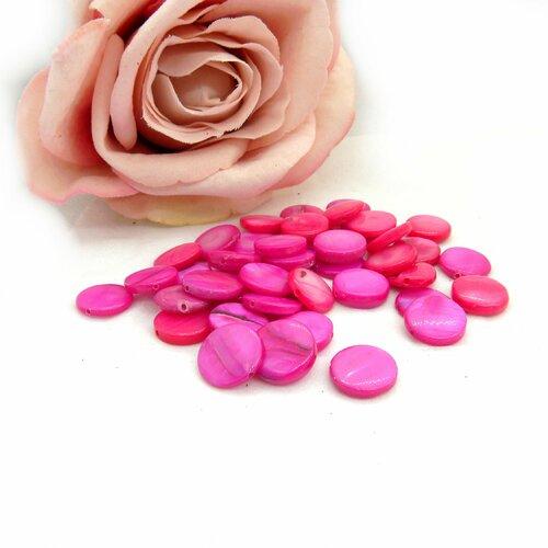 Assortiment de perles en nacre, perles nacre de forme, lot de perles, perle nacre blanche, nacre sequin, lot de nacre, perle nacre