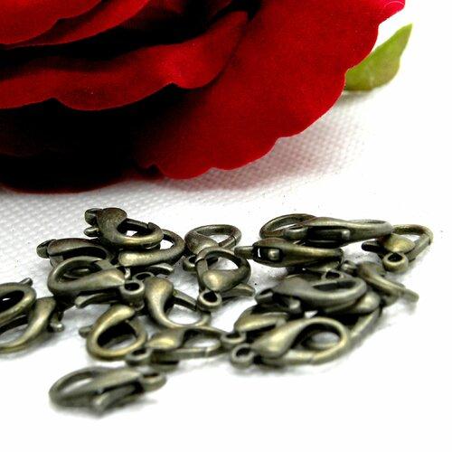 Fermoir mousqueton bronze, mousqueton menotte métal, fermoir menotte métal, fermoir mousqueton métal, fermoir mousqueton, mousqueton métal,