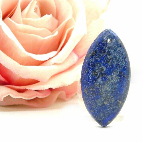 Pendentif ovale lapis-lazuli, lapis pierre naturelle, goutte lapis lazuli, gemmes véritable, pierre plate, pierre, lapis, ovale, 43mm +++