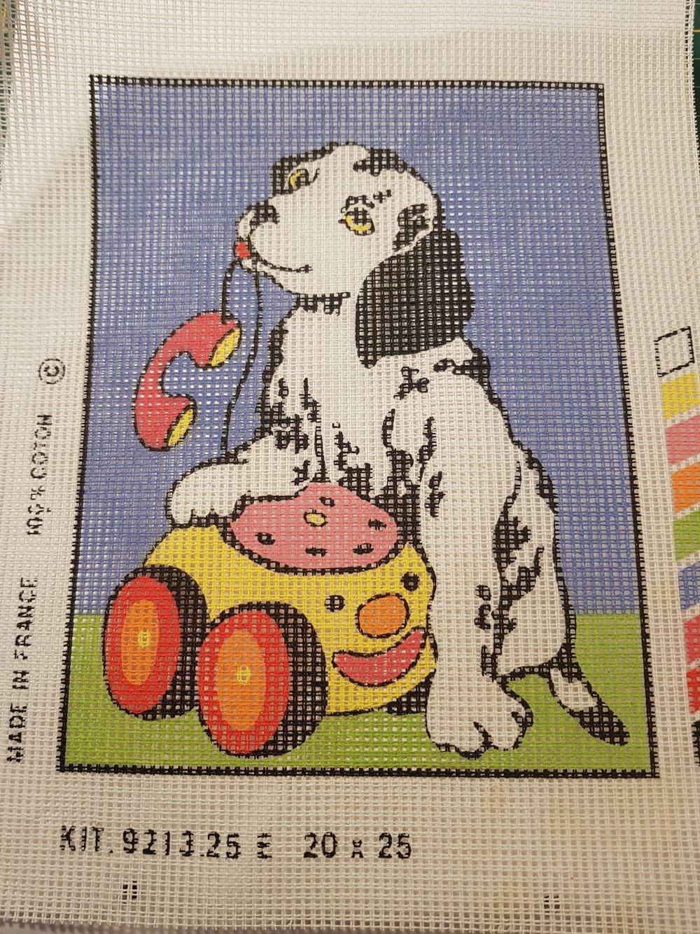 Toile canevas dalmatien téléphone