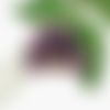 Pompon en tissu rose et dentelle noire