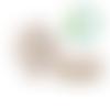 Perle flocon de neige en silicone alimentaire sans bpa 20x17mm - blanc nacré