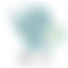 Anneau de dentition fée en silicone 70x64x10mm - bleu ciel