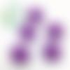 Perle tête de chat / kitty en silicone 20,5x18mm - violet