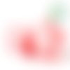 Perle coeur en silicone alimentaire sans bpa - 14mm - rose pastel
