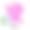 Anneau de dentition fée en silicone 70x64x10mm - rose
