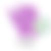 Anneau de dentition fée en silicone 70x64x10mm - violet