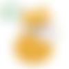 Perle renard tendre en silicone alimentaire sans bpa 31x24mm - moutarde