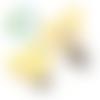 Clip pour attache-tétine tête de mickey en silicone alimentaire 56x61mm - jaune clair