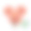 Clip pour attache-tétine tête de mickey en silicone alimentaire 56x61mm - pêche
