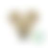 Clip pour attache-tétine tête de mickey en silicone alimentaire 56x61mm - avoine
