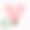 Clip pour attache-tétine tête de mickey en silicone alimentaire 56x61mm - quartz pink