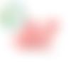 Perle xl mickey / tête de souris en silicone 32x27x19mm - rose pastel