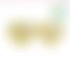 Perle coeur i love mom / i love dad en silicone alimentaire sans bpa 25x20x10mm - jaune clair