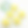 Perle tête de chat / kitty en silicone 20,5x18mm - jaune