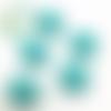 Perle tête de chat / kitty en silicone 20,5x18mm - vert