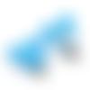 Clip pour attache-tétine tête de mickey en silicone alimentaire 56x61mm - bleu turquoise