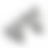 Clip pour attache-tétine tête de mickey en silicone alimentaire 56x61mm - gris clair