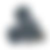 Clip pour attache-tétine tête de mickey en silicone alimentaire 56x61mm - gris foncé