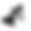 Clip pour attache-tétine tête de mickey en silicone alimentaire 56x61mm - noir