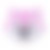 Perle tête de renard en silicone alimentaire sans bpa 29x28x10mm - rose