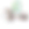 Perle hérisson en silicone alimentaire sans bpa 33x25mm - gris clair