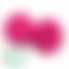 Perle i love mom / i love dad en silicone alimentaire sans bpa 18,5mm - fuchsia