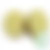Perle i love mom / i love dad en silicone alimentaire sans bpa 18,5mm - jaune clair