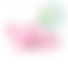 Perle souris / mickey en silicone 20x24x14mm - rose clair