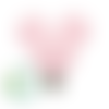 Clip pour attache-tétine tête de mickey en silicone alimentaire 56x61mm - rose pastel