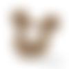Anneau de dentition en bois naturel sans traitement chimique - mickey