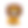 Perle lion en silicone alimentaire sans bpa 20x32mm - jaune moutarde