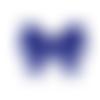 Perle noeud papillon ruban en silicone alimentaire 28x21x6mm - bleu marine