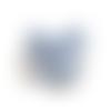 Clip pour attache tétine en fourrure mickey - bleu