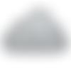 Anneau de dentition nuage en silicone alimentaire sans bpa 90x62mm - gris