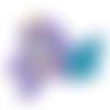 Anneau de dentition sirène en silicone alimentaire sans bpa 100x70mm - mauve