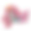 Anneau de dentition sirène en silicone alimentaire sans bpa 100x70mm - rose