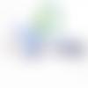Perle hérisson en silicone alimentaire sans bpa 33x25mm - bleu pastel
