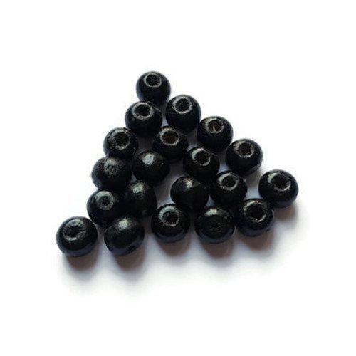 Perles en bois noires