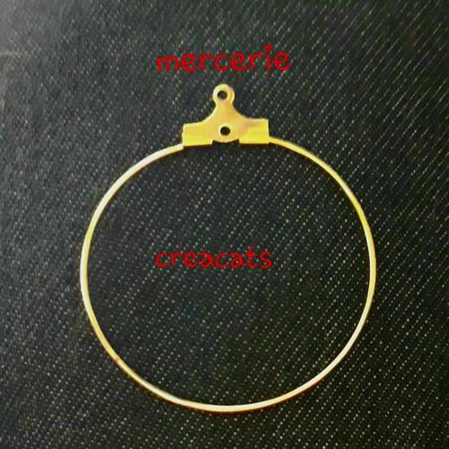 X  5 paires créoles support boucles d'oreille dorées