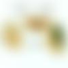X 10 embouts griffes demi lune éventail 20 mm métal couleur or
