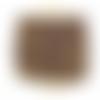 50 cm de chaine acier inoxydable doré perles émail violet