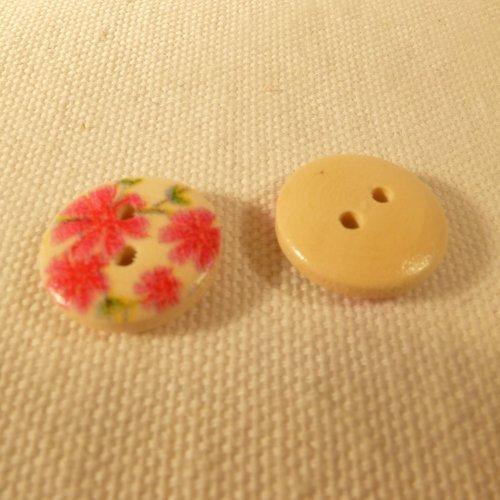 Bouton fleurs