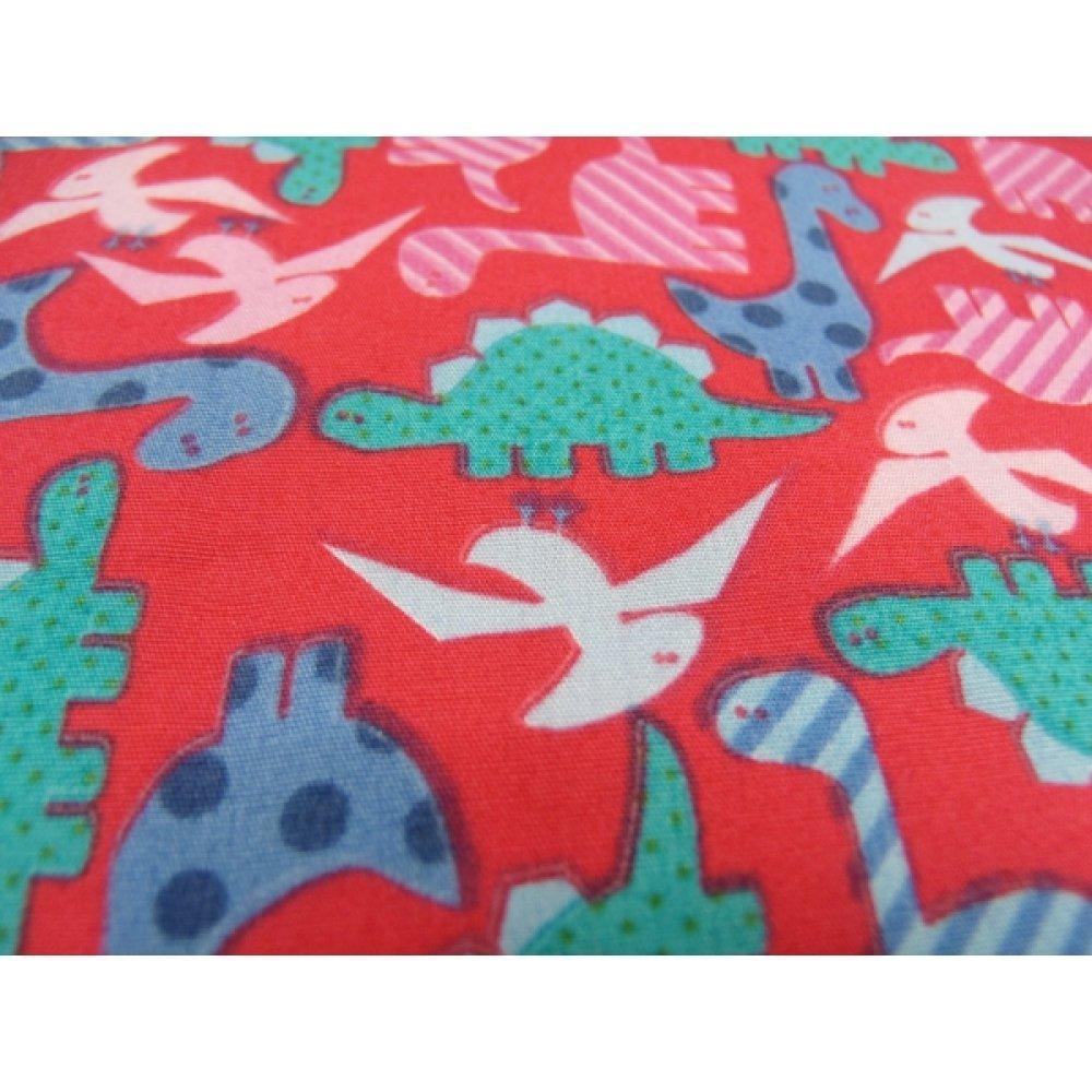 tissu coton imprimé dinosaure multicolore,150 cm,idéal pour toutes vos réalisations et créations