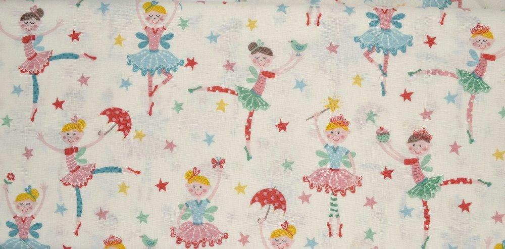 Tissu Patchwork 45cm X 55cm Les petites danseuses de Makower
