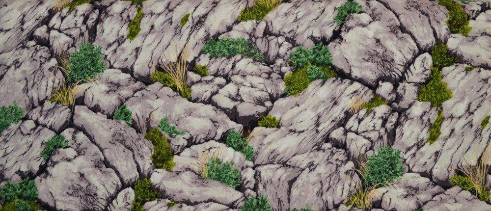Tissu Patchwork 45cm X 55cm Les Rochers