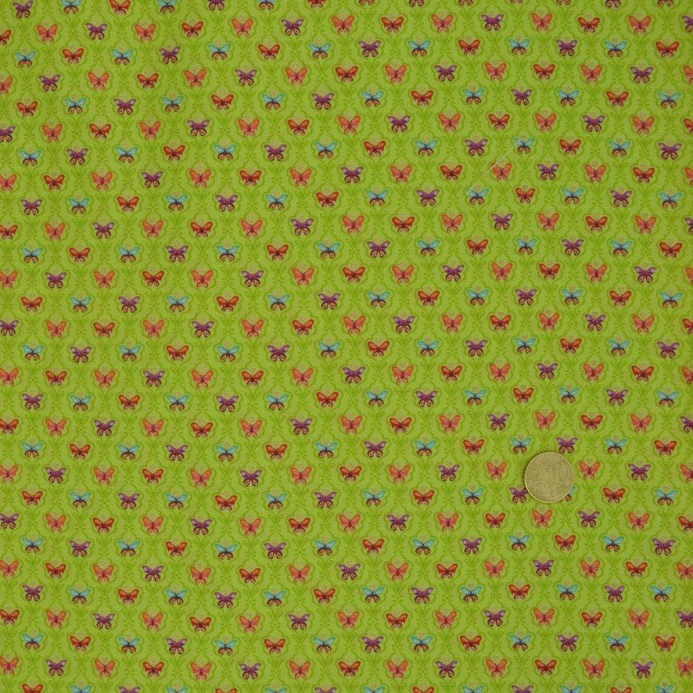 Coupon Tissu Patchwork 30cm X 55cm les Minis Papillons de Makower