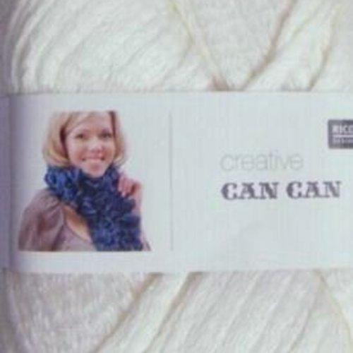 Can can print coul ecru laine à écharpe de rico